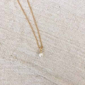 Jewelry - Vintage Gold Pearl Pendant Necklace